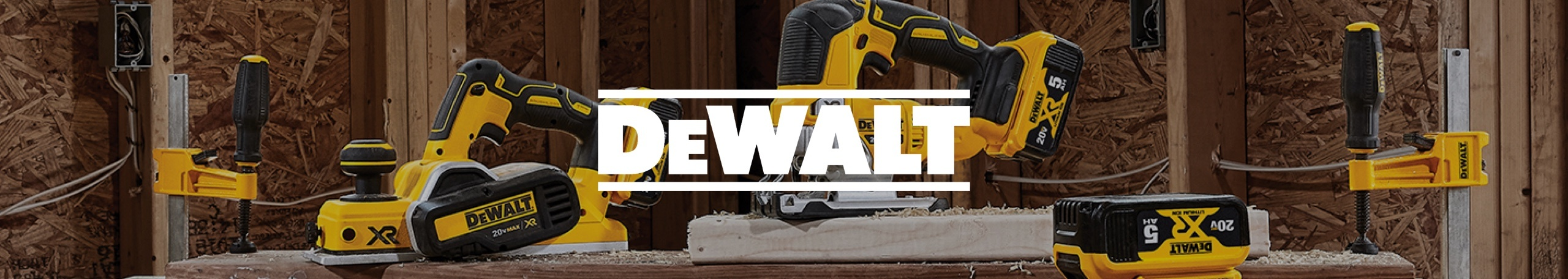 DeWALT power equipment with logo