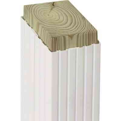 Beechdale 4 In. W. x 4 In. H. x 102 In. L. White PVC Fluted Post Wrap