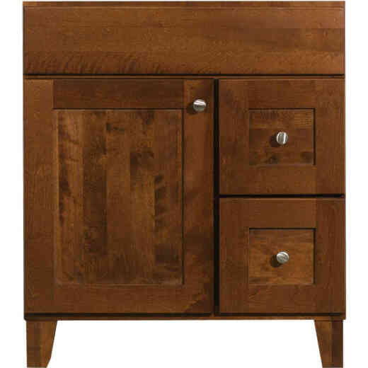 Bertch Osage Brindle 30 In. W x 34-1/2 In. H x 21 In. D Vanity Base, 1 Door/2 Drawer
