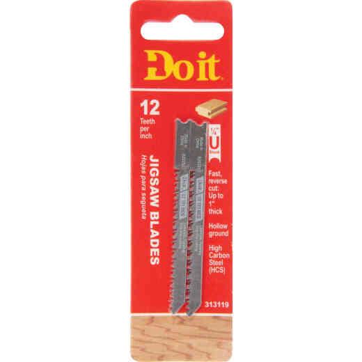 Do it Best U-Shank 3-1/8 In. x 12 TPI High Carbon Steel Reverse Cut Jig Saw Blade, Wood/Laminate (2-Pack)