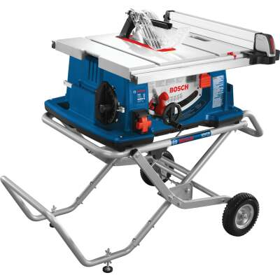 Bosch 15-Amp 10 In. Job Site Table Saw with Wheeled Stand