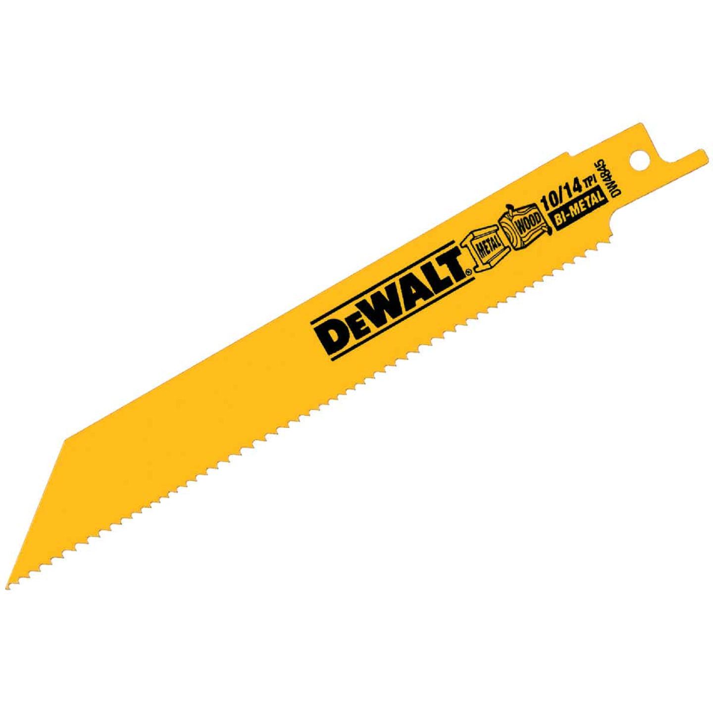 DeWalt 6 In. 10/14 TPI Wood/Metal Reciprocating Saw Blade (2-Pack) Image 1