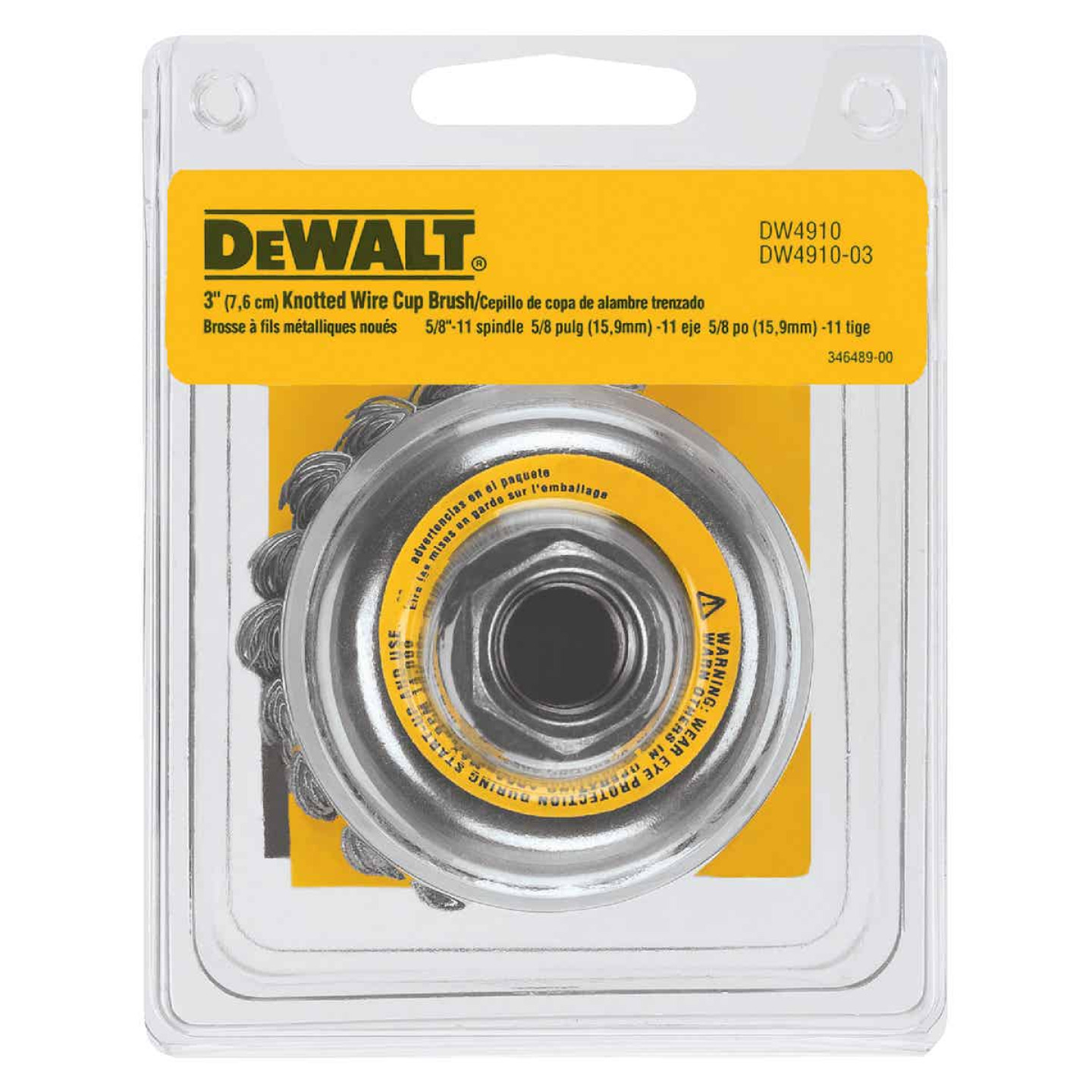 DeWalt 3 In. Knotted 0.020 In. Angle Grinder Wire Brush Image 4
