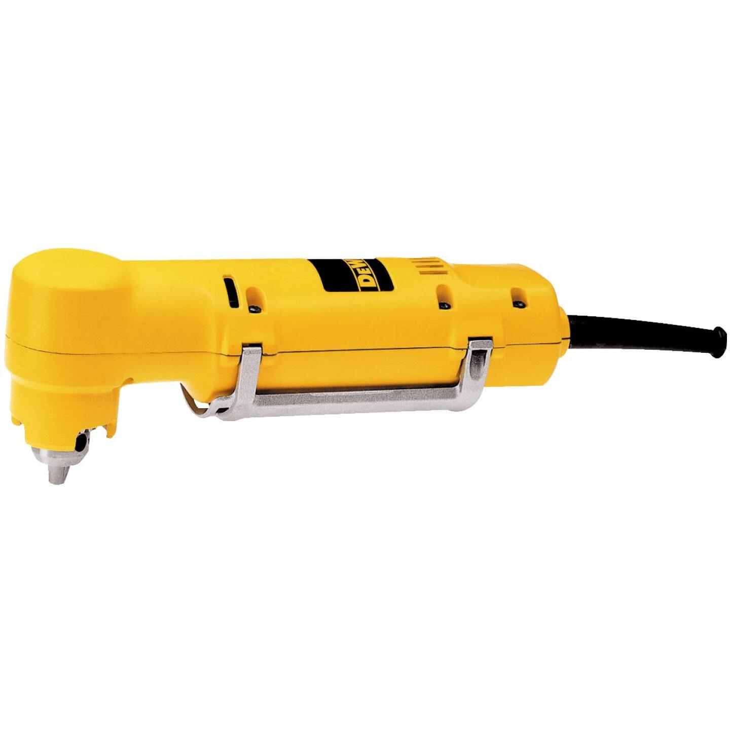 DeWalt 3/8 In. 3.2-Amp Keyed VSR Electric Angle Drill Image 1