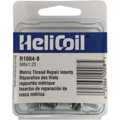HeliCoil M8 x 1.25 Thread Insert Pack (12-Pack)