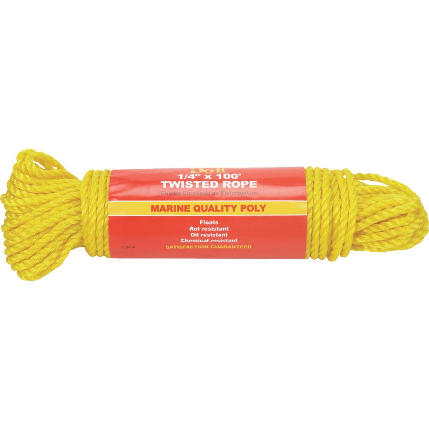 Do it 1/4 In. x 100 Ft. Yellow Twisted Polypropylene Packaged Rope Image 1