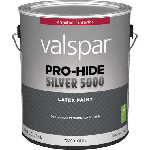 Pratt & Lambert Pro-Hide Silver 5000 Latex Eggshell Interior Wall Paint, Bright White Base, 1 Gal.