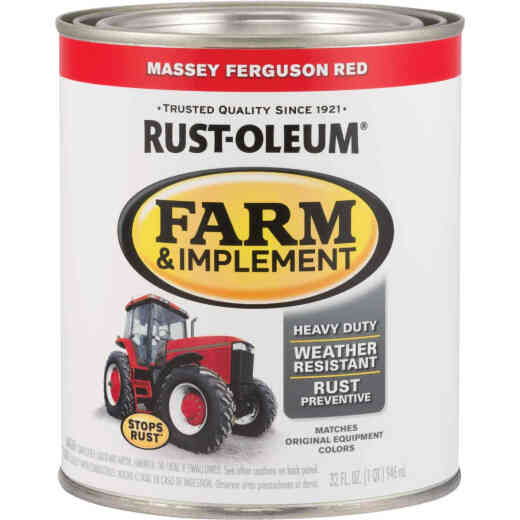 Rust-Oleum 1 Quart Massey Ferguson Red Gloss Farm & Implement Enamel